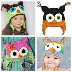 Детская шапочка «Сова»   Вязание для девочек   Вязание спицами и крючком. Схемы вязания.