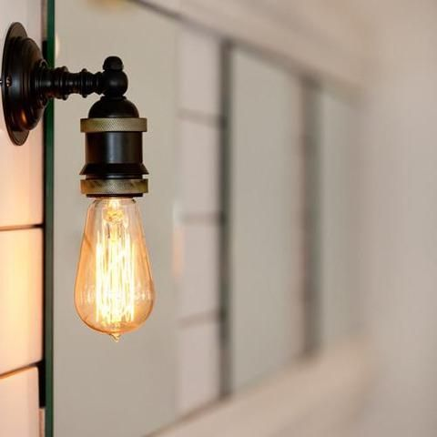 Vintage Industrial Style Wall Light | Antique Bronze