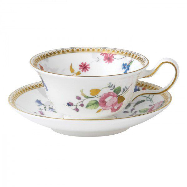 Rose Gold Teacup & Saucer Peony, Gift Boxed