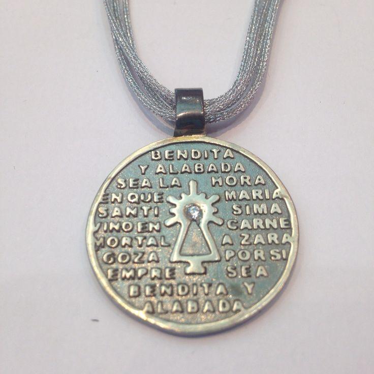 Medalla de la Virgen del Pilar en Plata de ley