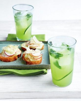 """See the """"Cucumber Cooler"""" in our Sangria, Summer Punch, and Cooler Recipes gallery"""