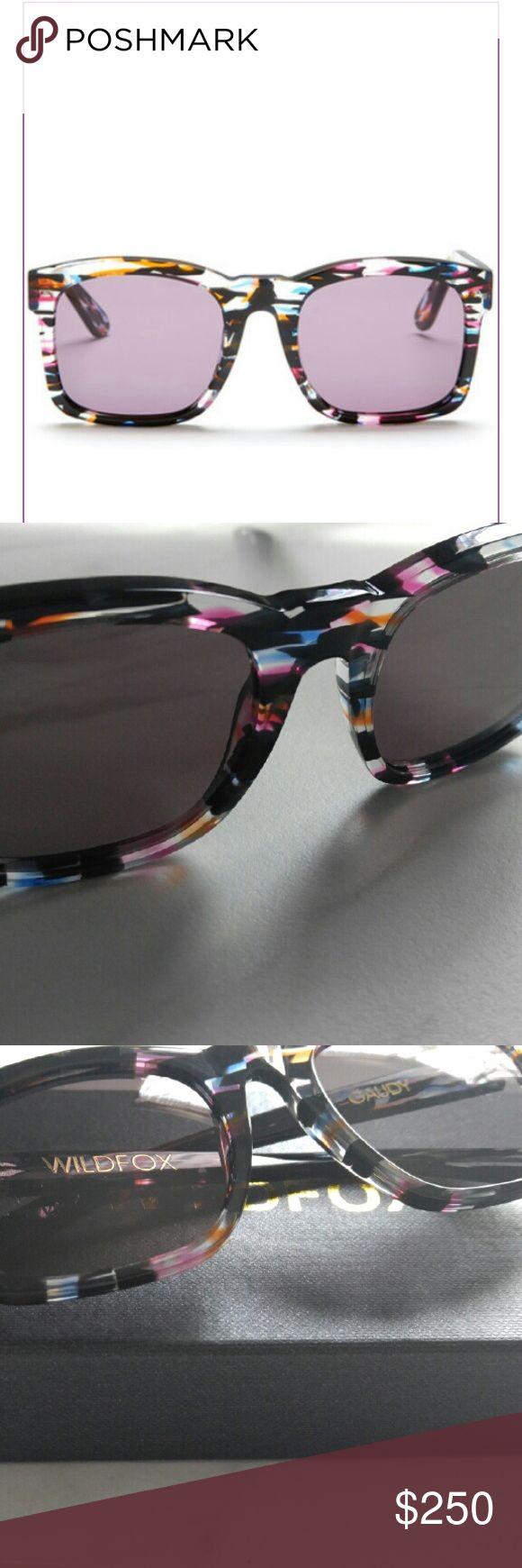 New Wildfox Gaudy Rectangle Sunglasses Brand New Wildfox Gaudy Rectangle Sunglasses  Color: FIREWORKS Wildfox Accessories Sunglasses