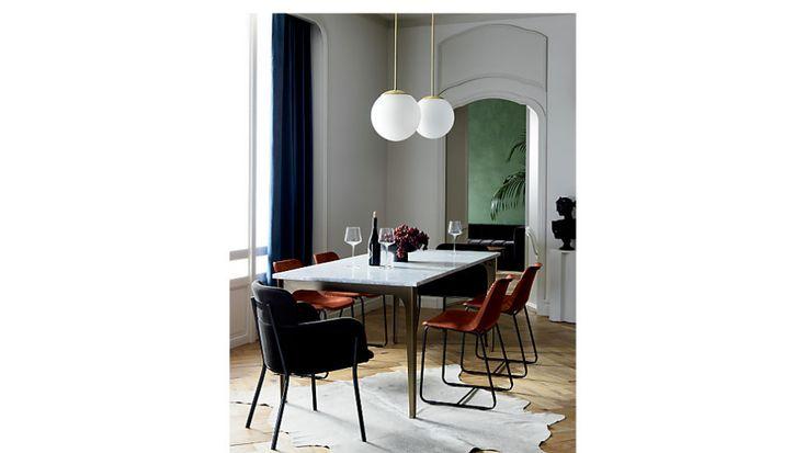 Azalea grey mink chair reviews cb2 canada side