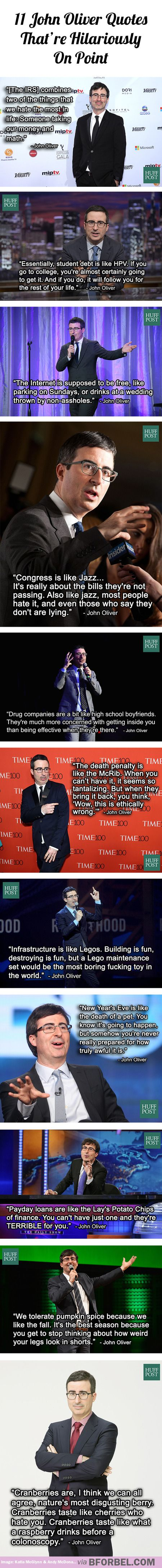 11 John Oliver quotes that're hilariously on point