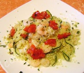 Cous cous zucchine e gamberetti