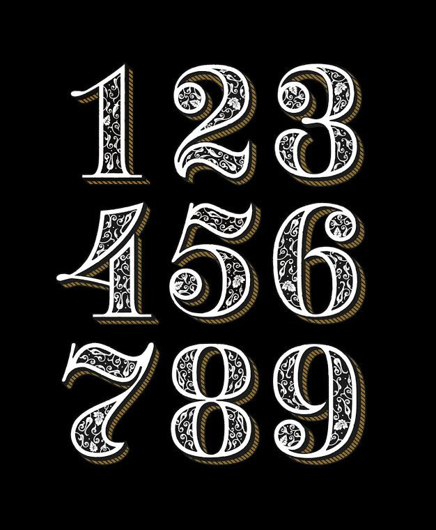 шрифты цифр картинки оригинальному строению