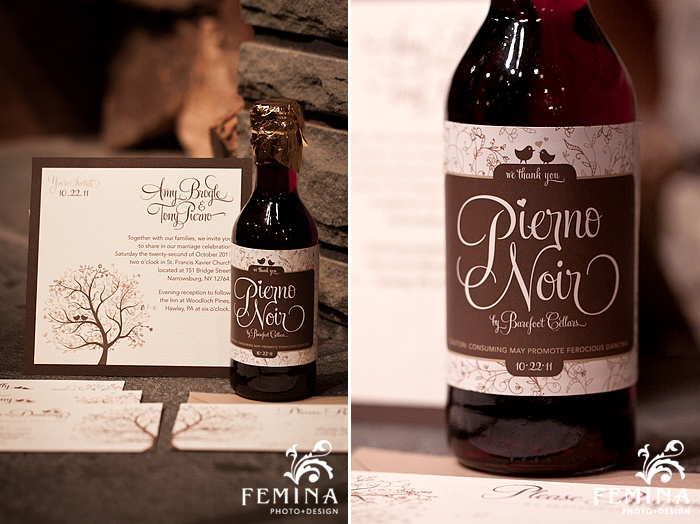 Craft Tan Brown Cream Whimsical Fall Invitation Designs Wine Label Femina