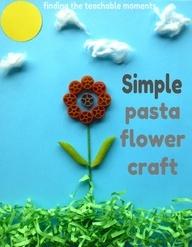 Simple Pasta Flower Craft