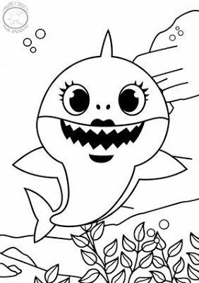 Dibujo De Ma Shark Para Colorear En 2020 Dibujos Dibujos