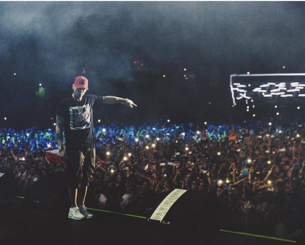 Eminem in Chile, march 19 2016