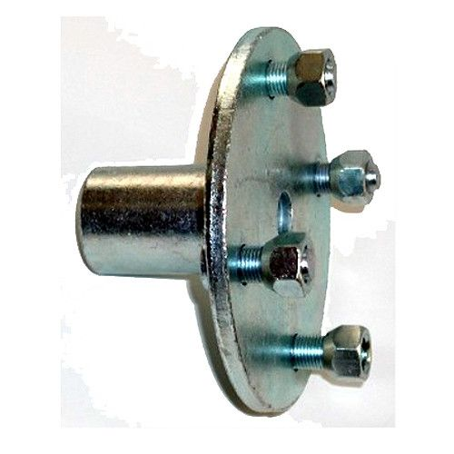 """Go Kart 1"""" Bore Axle Hub. 4 lugs on a 4"""" bolt circle hub for our 20803 1"""" go kart axle. The 1"""" bore depth is 2-1/4"""". Hub is shouldered on one end for 3/4"""" step-down go kart axle. Go kart Hub has a 1/4"""" keyway with 4 lugnuts. Overall length of 1"""" hub is 2-1/2"""". To be used with our 20803 go kart axle and 30490 go kart rim. Also used on mini bike axles."""