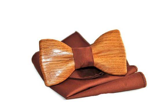 Handmade Wooden Bow Tie For Friend Men Groom Wedding Idea For Best