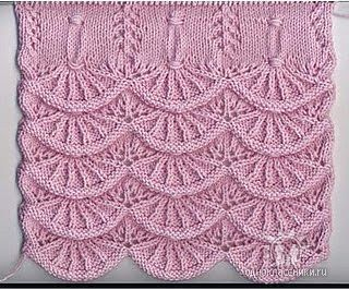 Knitting pattern, this can be nice as ending for a scarf, or baby blanket