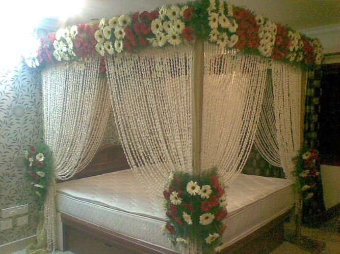 Romantic Bedroom decoration ideas for Wedding Night is one of the most  attractive function  In. marriage bedroom decoration   My Web Value