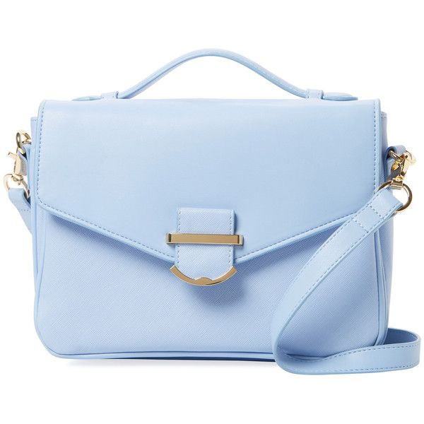 Cynthia Rowley Women's Hudson Small Crossbody - Light/Pastel Blue found on Polyvore featuring bags, handbags, shoulder bags, purses, handbag purse, crossbody purses, blue shoulder bag, handbags shoulder bags and man bag