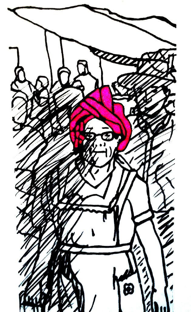 Mujeres de Tlacolula con tocados y rebozos (1)