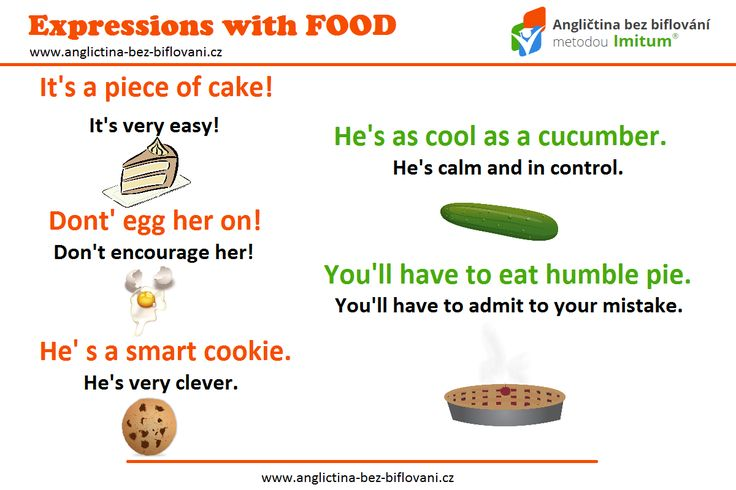 Kdo by neměl rád jídlo?!  V angličtině se s ním navíc pojí pár zajímavých slovních spojení.  #idioms #food