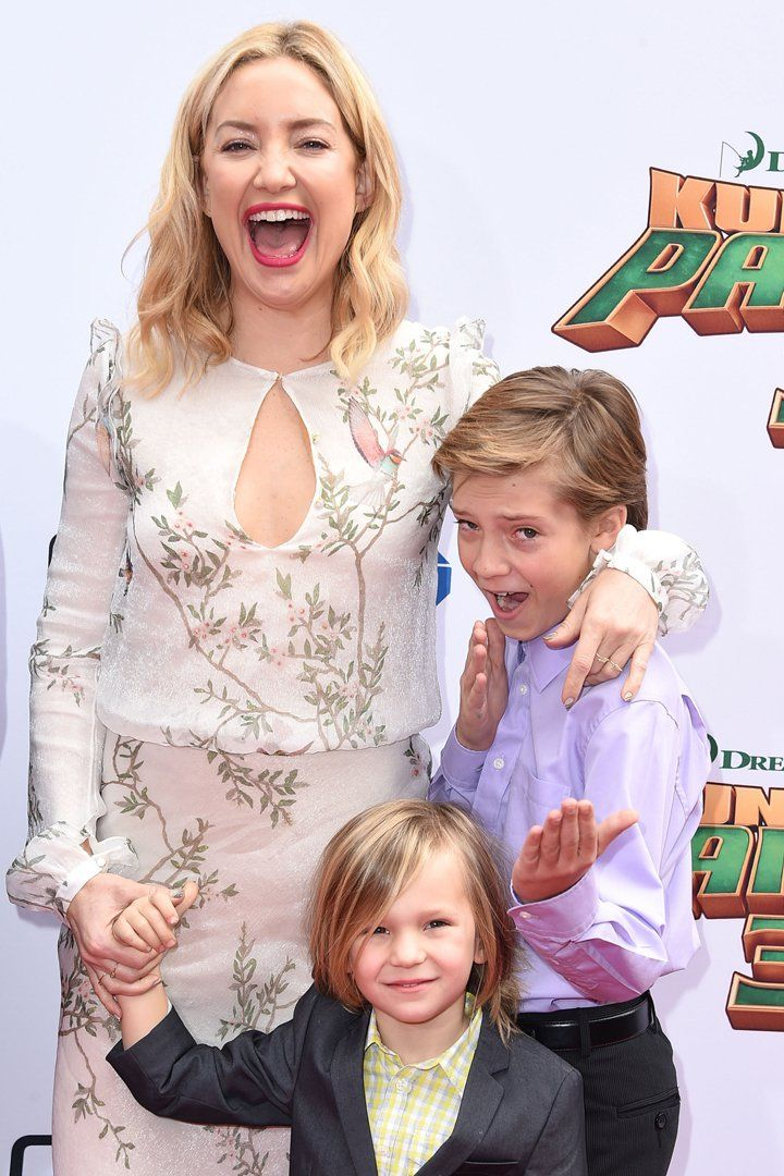 Pin for Later: Kate Hudson's Adorable Sons Make Their Red Carpet Debut!