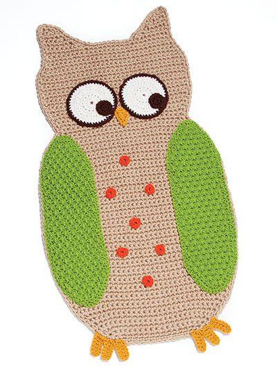 Maggie's Crochet · Cute Crochet Rugs For Kids/ incl. 7 designs: monkey, owl, butterfly, ladybug, stegosaurus, elephant, turtle/ CROCHET pattern/ playmat for toddlers or rug for kids