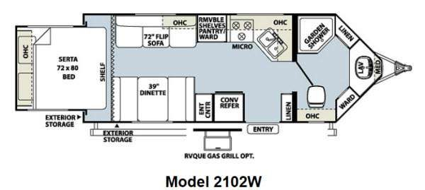 Used 2012 Forest River RV Rockwood Wind Jammer 2102W Travel
