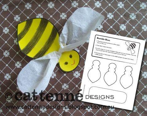 Free Bumble Bee craft pattern