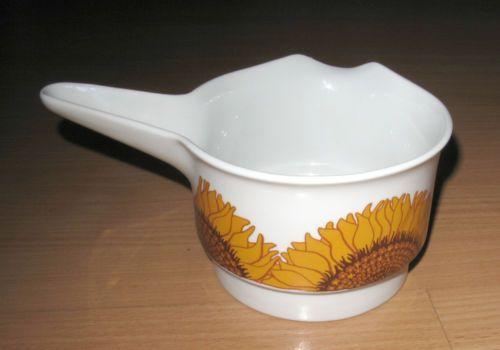 Vintage-Egersund-Norway-Korulen-Gravy-Sauce-Boat-Sunflower-Solsikke