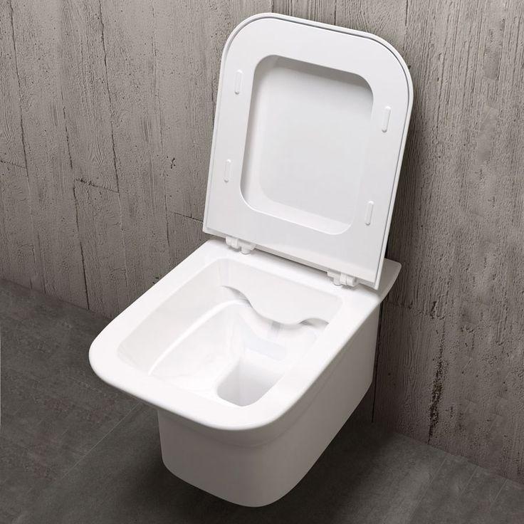 Væghængt Toilet uden skyllekant Prua
