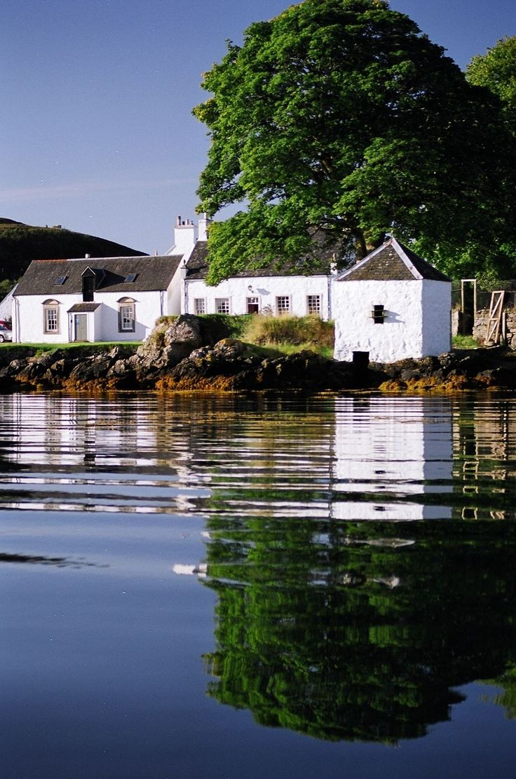 The head quarters of Praban na Linne, looking out over the water of the Sound of Sleat.
