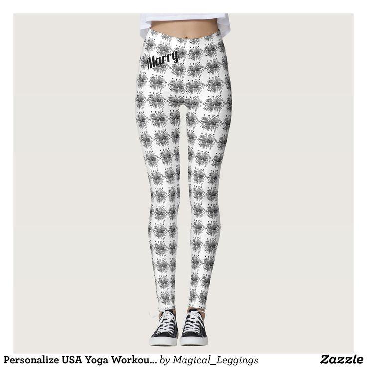 Personalize USA Yoga Workout Artistic Legging : Beautiful