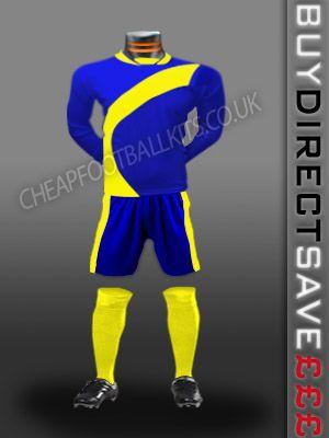 Attack Discount Football Kit Royal/Yellow