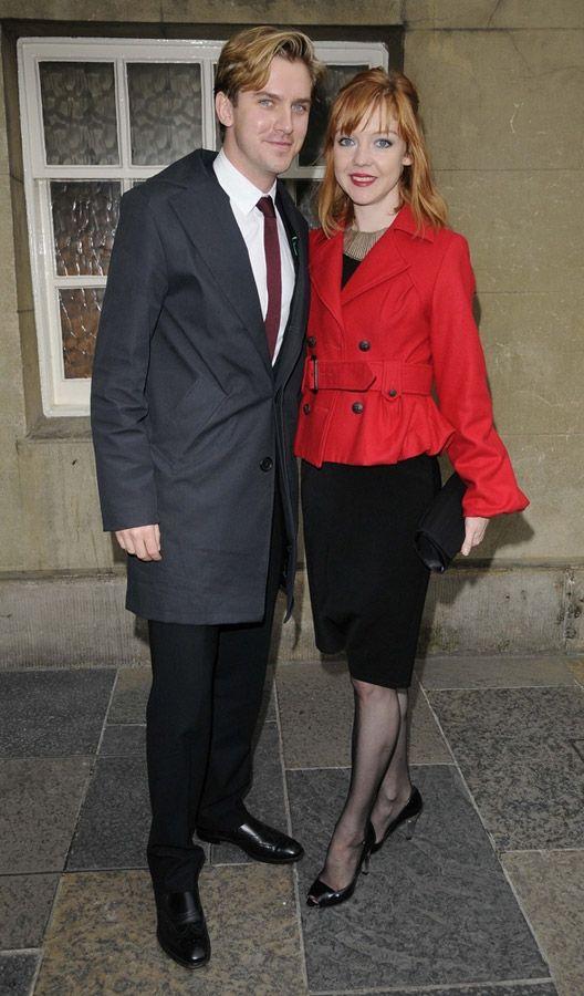 Dan Stevens and his Wife! Pic from Last Year! When Dan Stevens Still looked like MATTHEW CRAWLEY