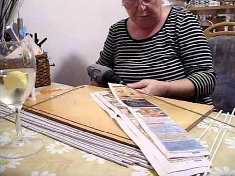 Motání ruliček z novinového papíru pomocí akuvrtačky - YouTube