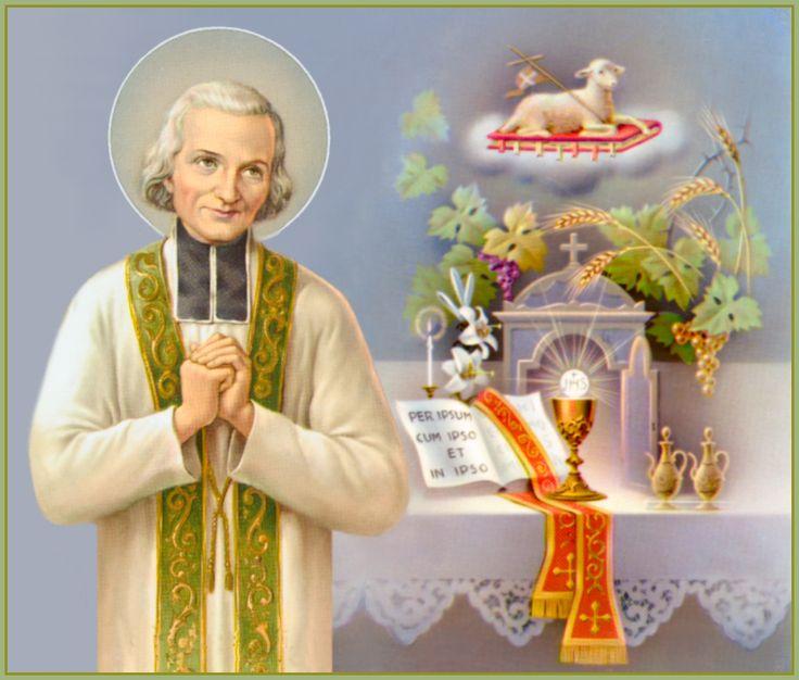 São João Maria Vianney, padroeiro dos sacerdotes.