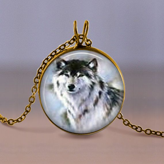 Jewelry  Necklace  Wolf 3 Antique Bronze or by MaDGreenCreations, $7.49