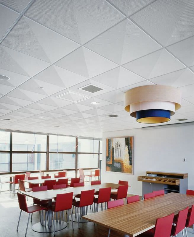 Mineral fiber suspended ceiling / tile / acoustic / with relief - GRAPHIS -  Armstrong ceilings - Europe