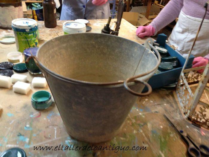 El taller de lo antiguo pintar cubo de lat n vintage - El taller de lo antiguo ...