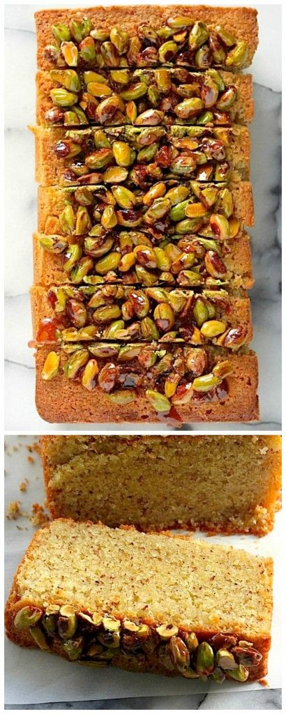 Pistachio Pound Cake - this cake is out of control AMAZING! Moist, flavorful, and loaded with gorgeous pistachios, this will be great for Easter or Mother's Day!