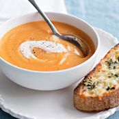 Sweet Potato Soup with Cheese