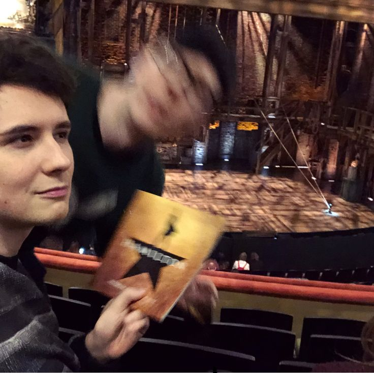 Dan and Phil seeing Hamilton