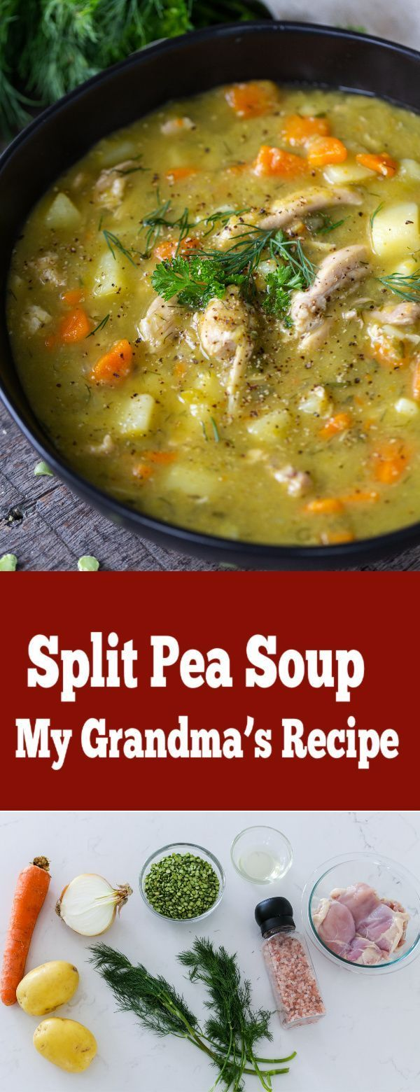Mar 21, 2020 – Absolute comfort food you will love this Split Pea Soup (My Grandma's Recipe)