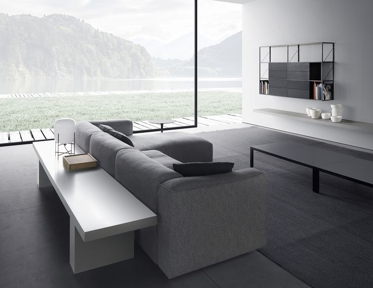 Mate 2012 is a system of sofas for indoor use with a great comfort and character, designer by Robin Rizzini for MDF Italia