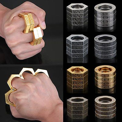 Men's Lots of the Rings Self-defense Ring Pocket Outdoor Tools