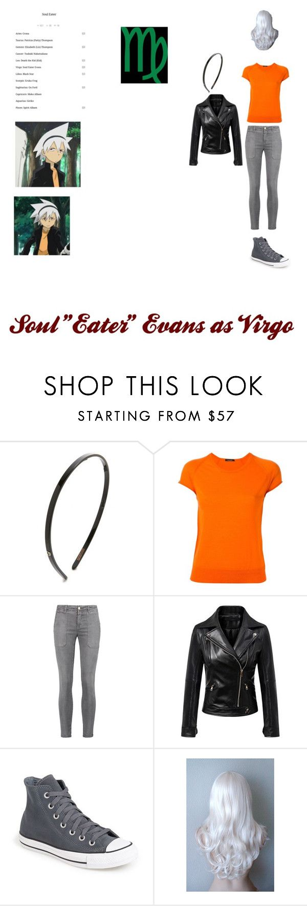 """Soul ""Eater "" Evans as Virgo"" by maddiehatter202 ❤ liked on Polyvore featuring Alexandre de Paris, Roberto Collina, Current/Elliott and Converse"