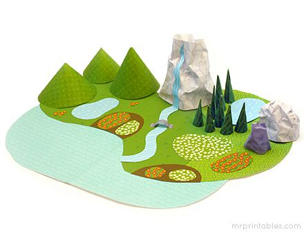 Paper Toys - My Paper World 'Nature'   Mr Printables