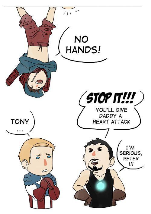 • Spiderman iron man tony stark Captain America Steve Rogers peter parker avengers Silly Stony ilegzz •