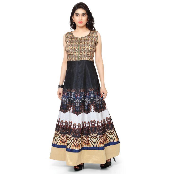 Kapadewala Designer Printed Gown For Women