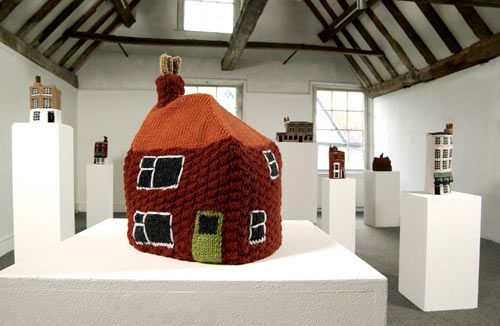 """Ethel by Freddie Robins, from her series """"Knitted Homes of Crime."""""""