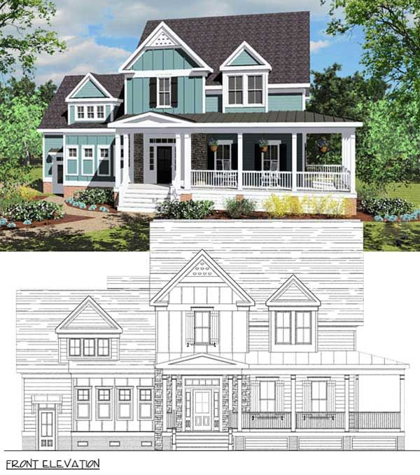 House plans with porch on second floor for House plans with second story porch