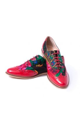 Pantofi cu motive traditionale RLA0004