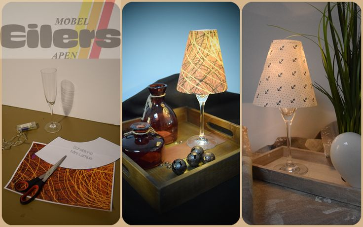 Schlafzimmer Lampe Dekoration : Sektglas als lampe dekoration stube flur